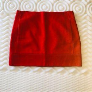 J Crew orange Wool Mini Skirt
